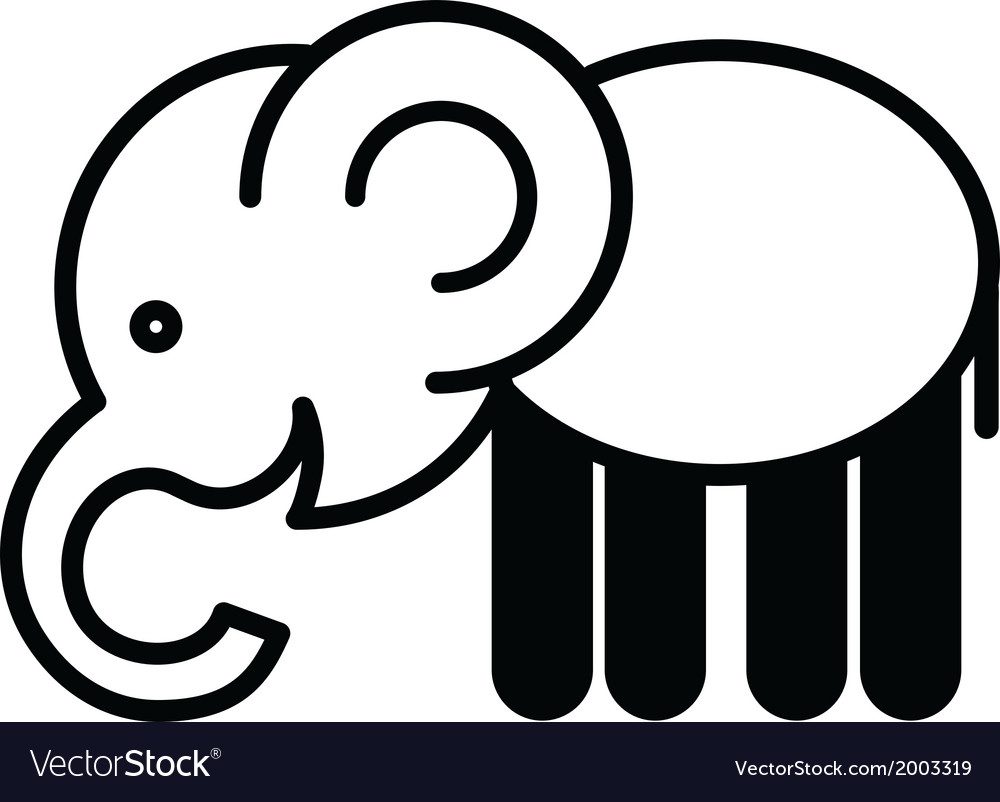 Cute animal elephant - vector | Price: 1 Credit (USD $1)