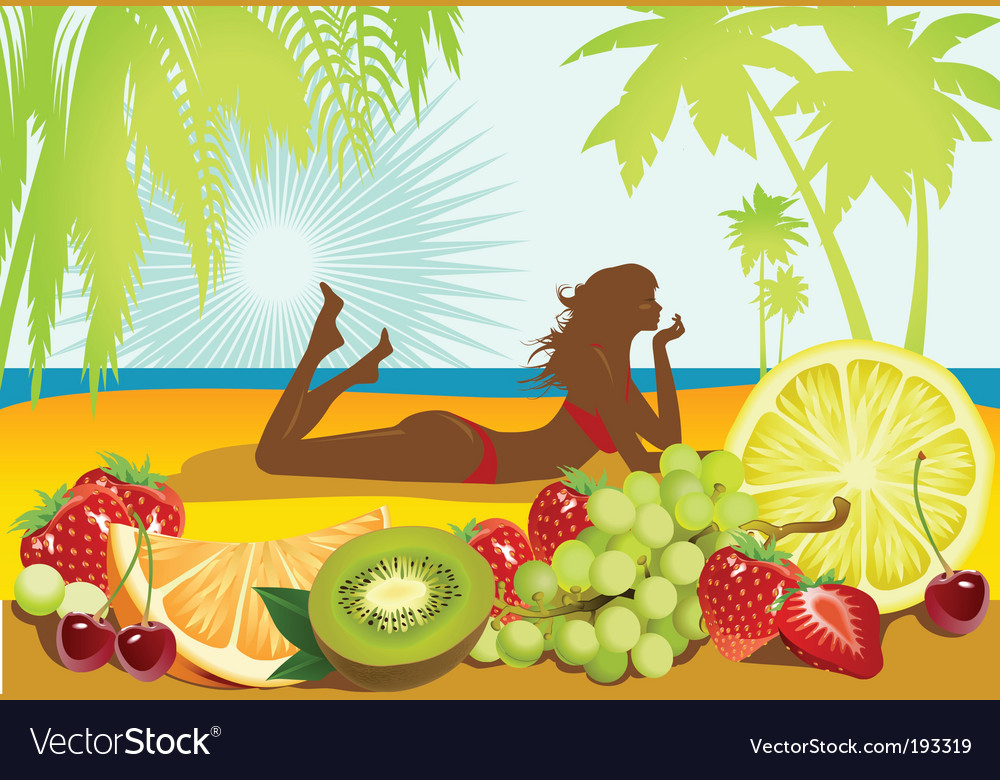 Fruits and summer vector | Price: 3 Credit (USD $3)