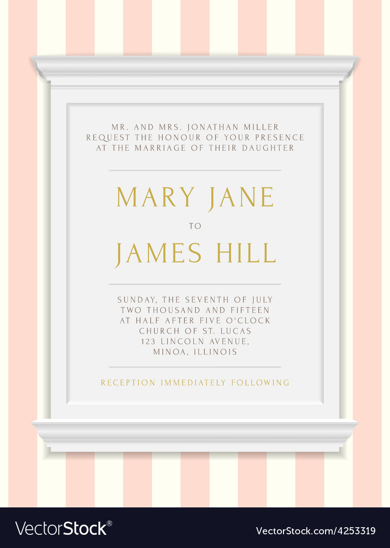 Invitation to the wedding or announcements vector | Price: 1 Credit (USD $1)