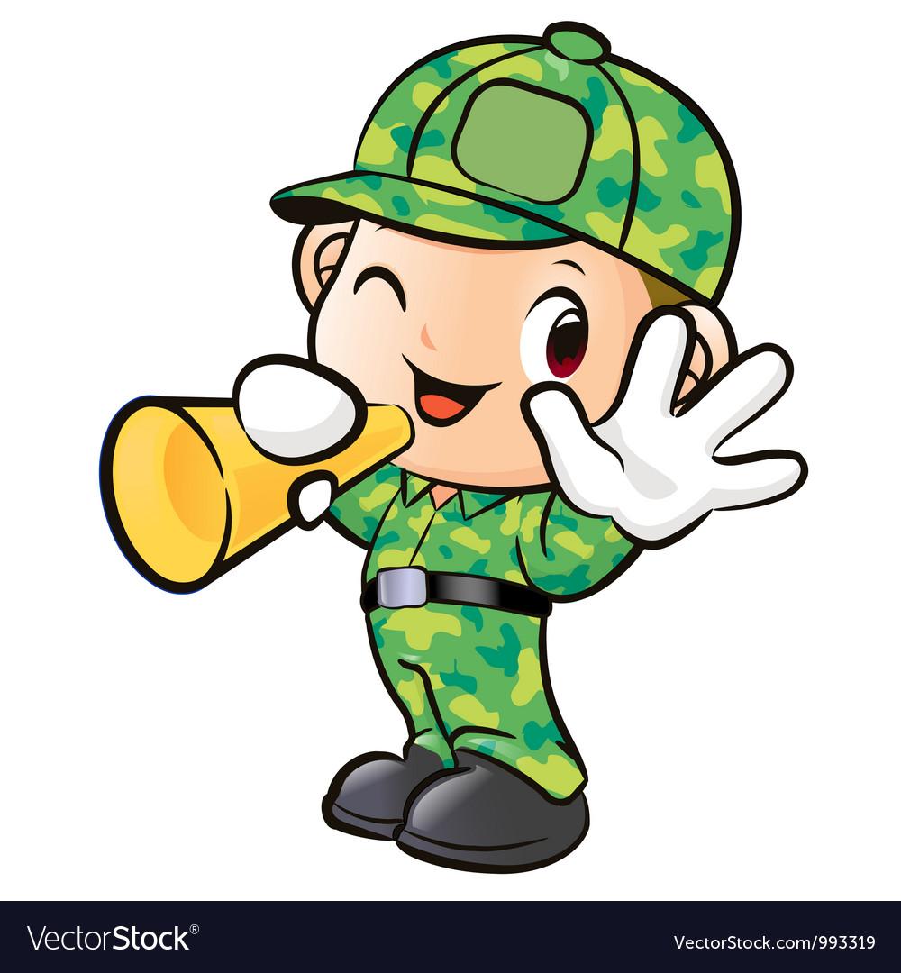 Loudspeakers to inform soldier vector | Price: 3 Credit (USD $3)