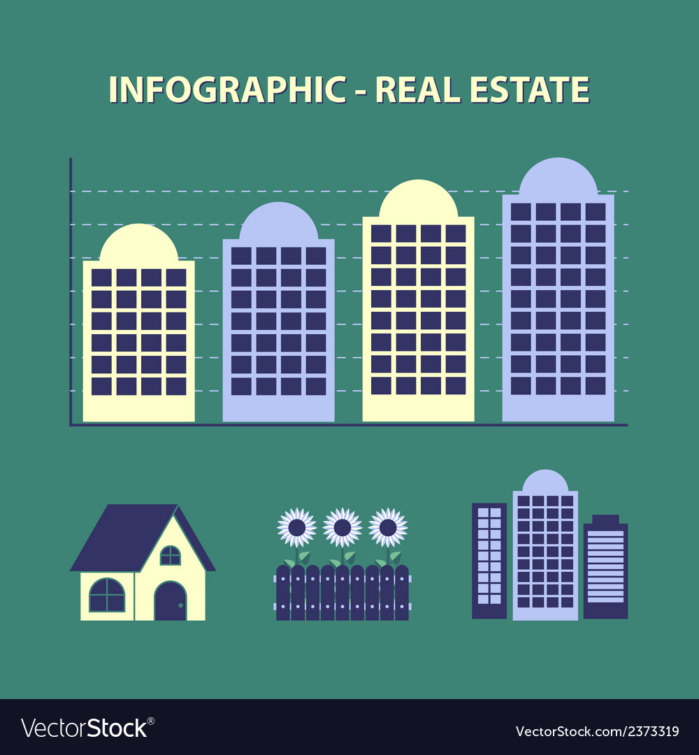 Real estate infografic vector | Price: 1 Credit (USD $1)