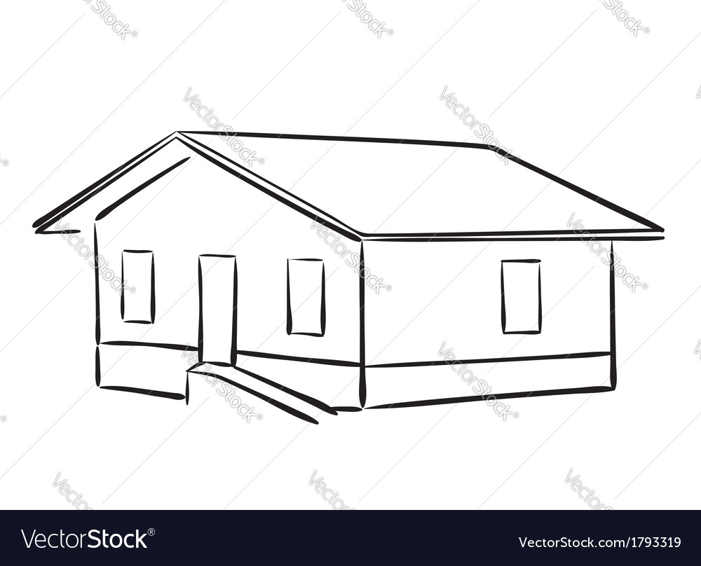 Small house - silhouette vector | Price: 1 Credit (USD $1)