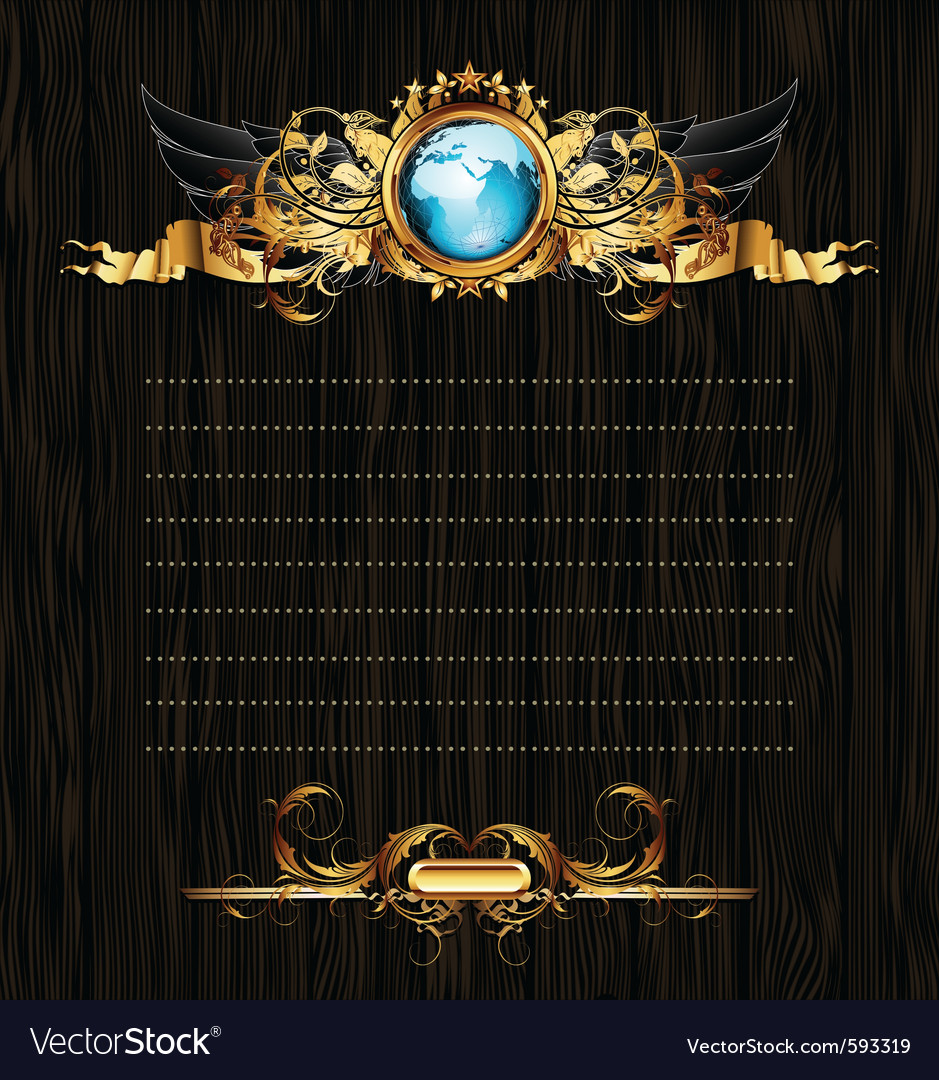 World with ornate frame vector   Price: 1 Credit (USD $1)