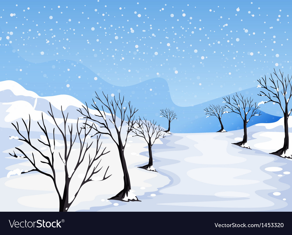 A place covered with snow vector | Price: 1 Credit (USD $1)