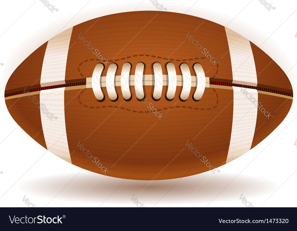 American football ball isolated on withe vector | Price: 1 Credit (USD $1)