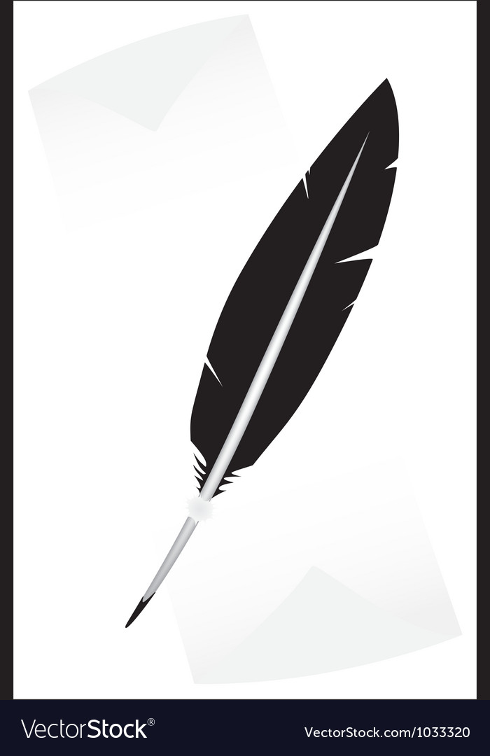 Black feather vector | Price: 1 Credit (USD $1)