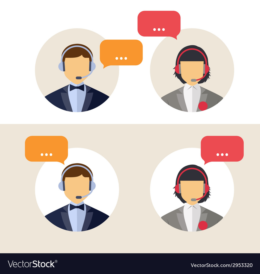 Client services vector | Price: 1 Credit (USD $1)