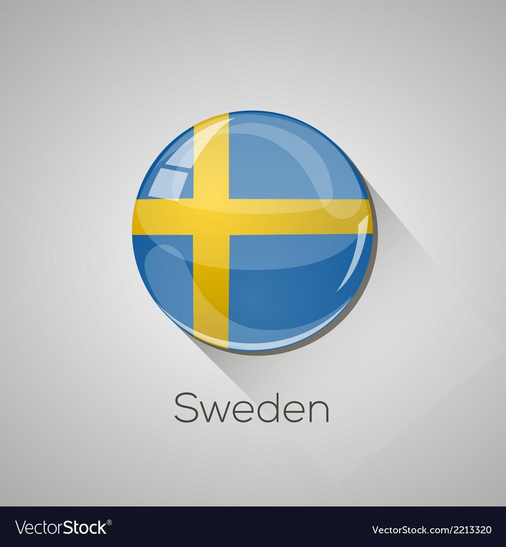 European flags set - sweden vector | Price: 1 Credit (USD $1)