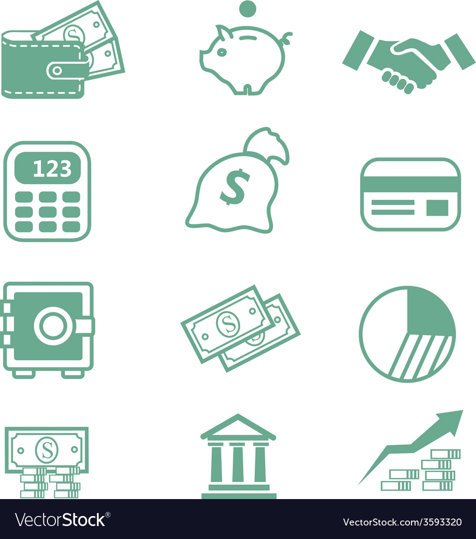 Finance icons - vector | Price: 1 Credit (USD $1)