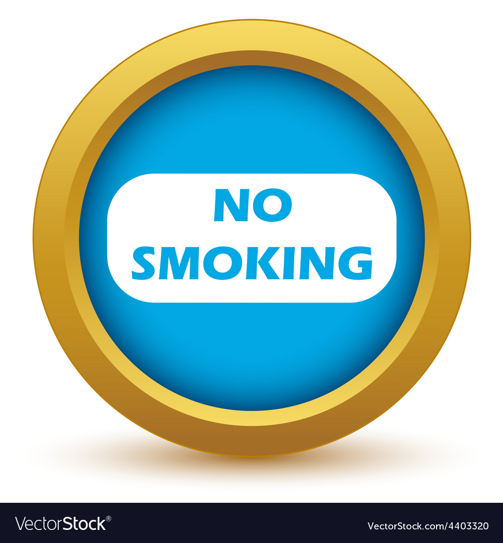 Gold no smoking icon vector | Price: 1 Credit (USD $1)
