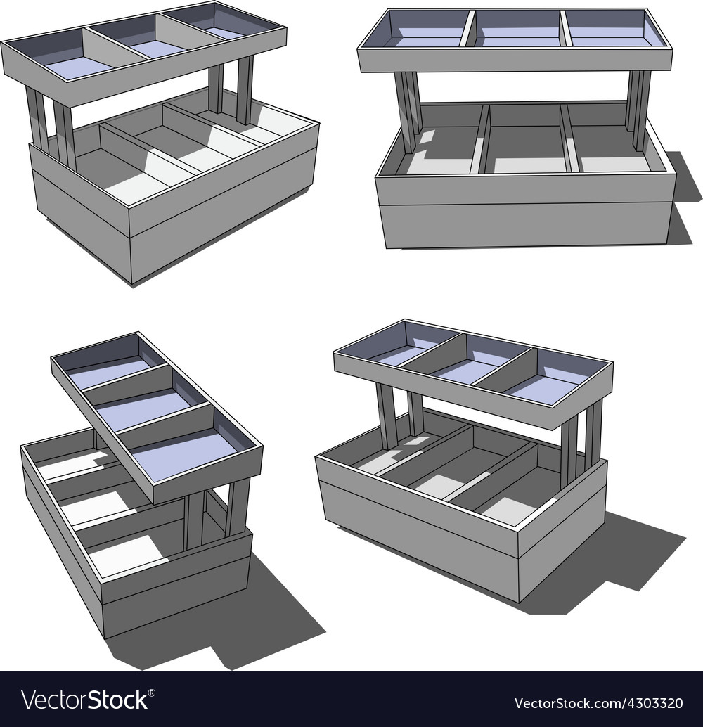 Shop shelves vector | Price: 1 Credit (USD $1)
