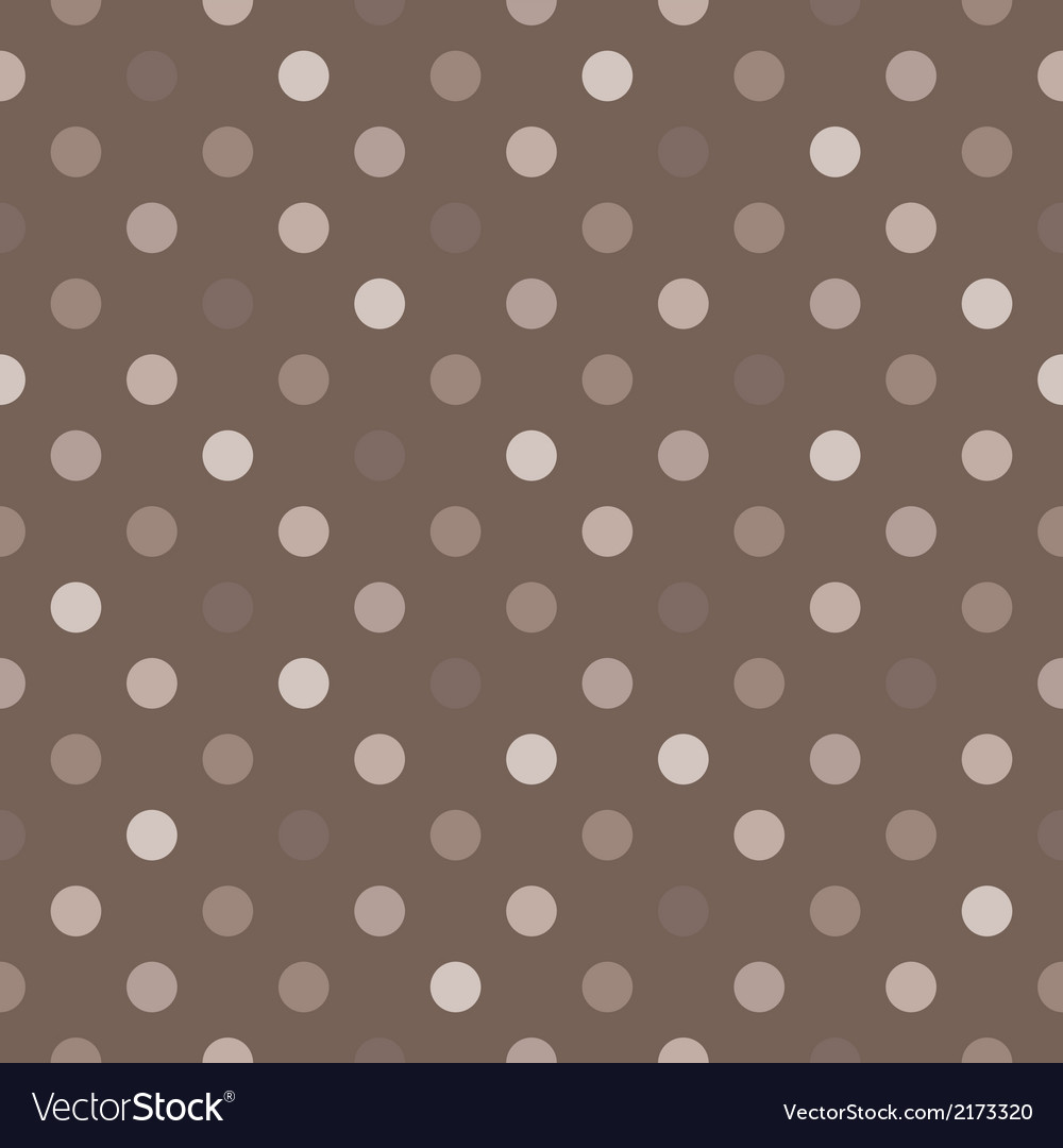 Tile brown and grey polka dots background vector | Price: 1 Credit (USD $1)