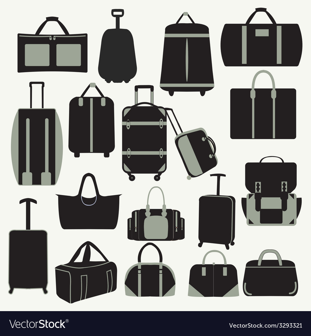 Baggage theme icons vector | Price: 1 Credit (USD $1)