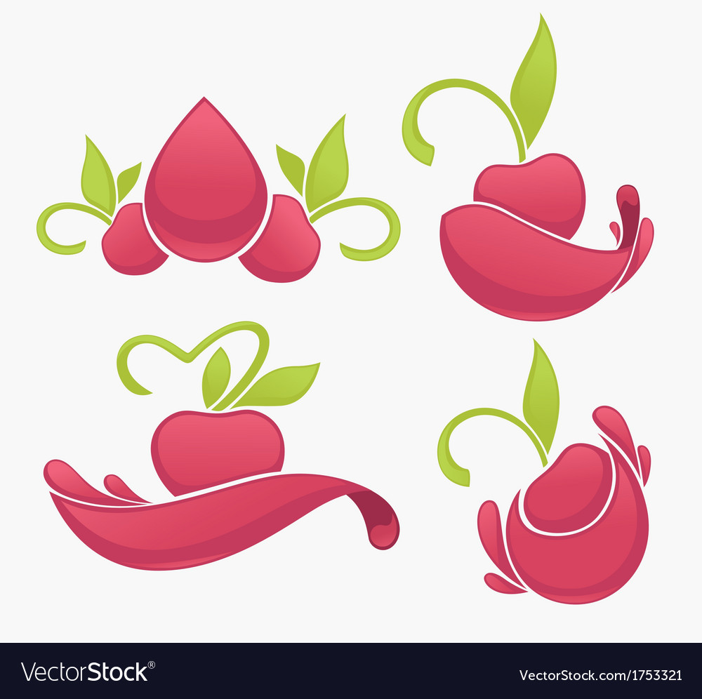 Cherry juice vector | Price: 1 Credit (USD $1)