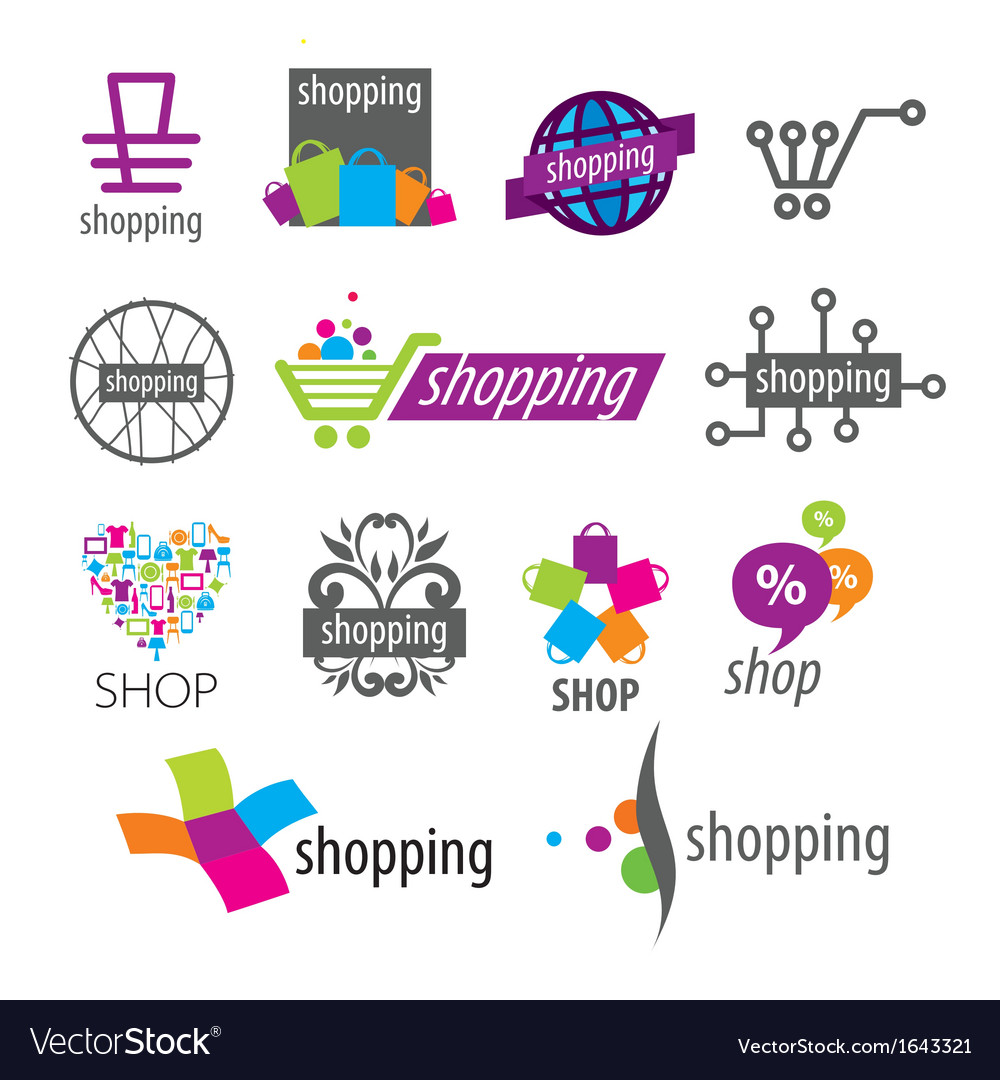 Collection of logos shopping discounts vector | Price: 1 Credit (USD $1)