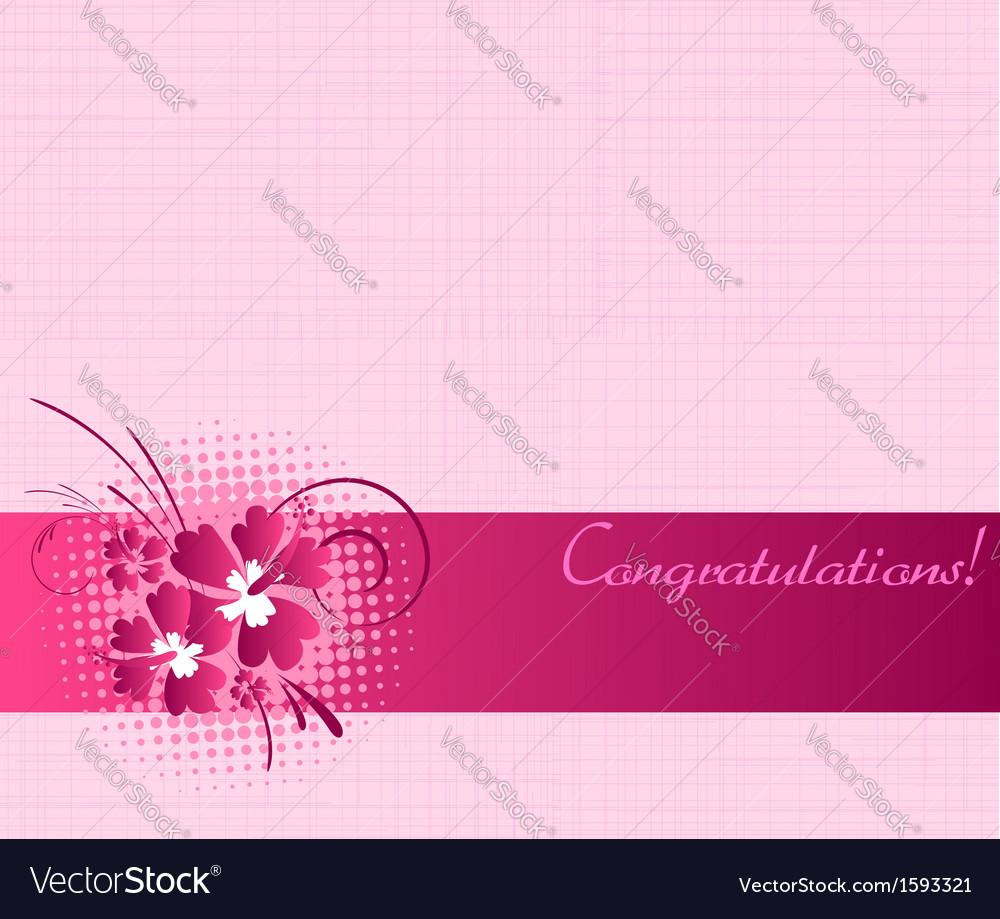 Congratulation card vector | Price: 1 Credit (USD $1)