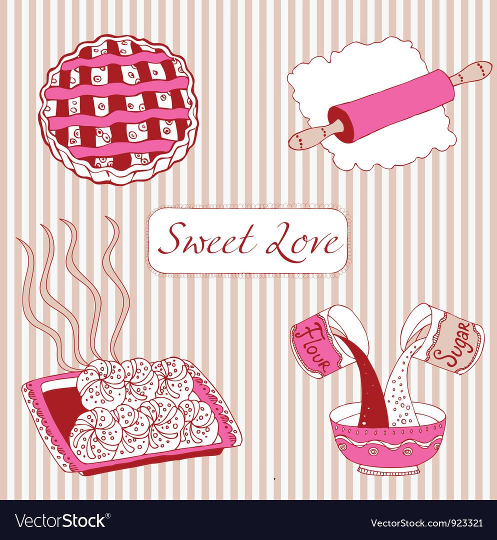 Cupcake birthday card vector | Price: 1 Credit (USD $1)