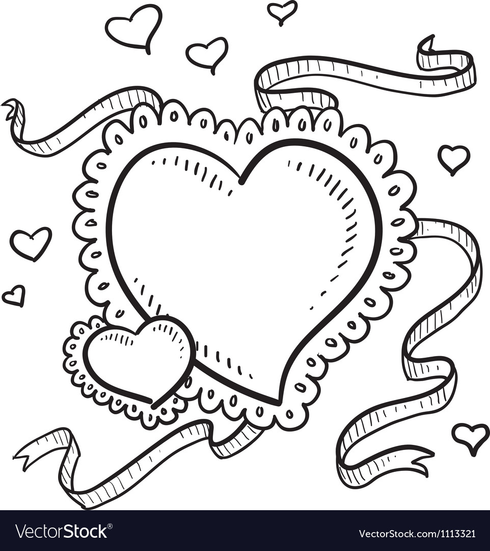 Doodle heart fancy vector | Price: 1 Credit (USD $1)
