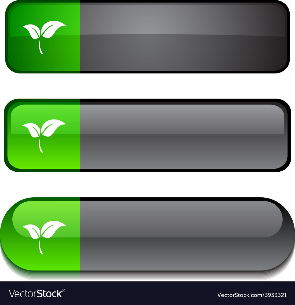 Ecology button set vector | Price: 1 Credit (USD $1)