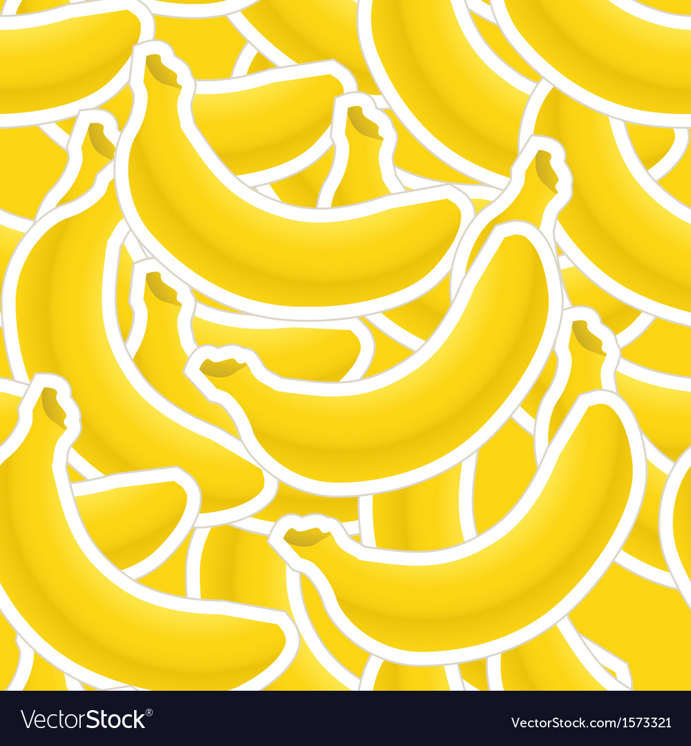 Group of banana seamless background vector | Price: 1 Credit (USD $1)