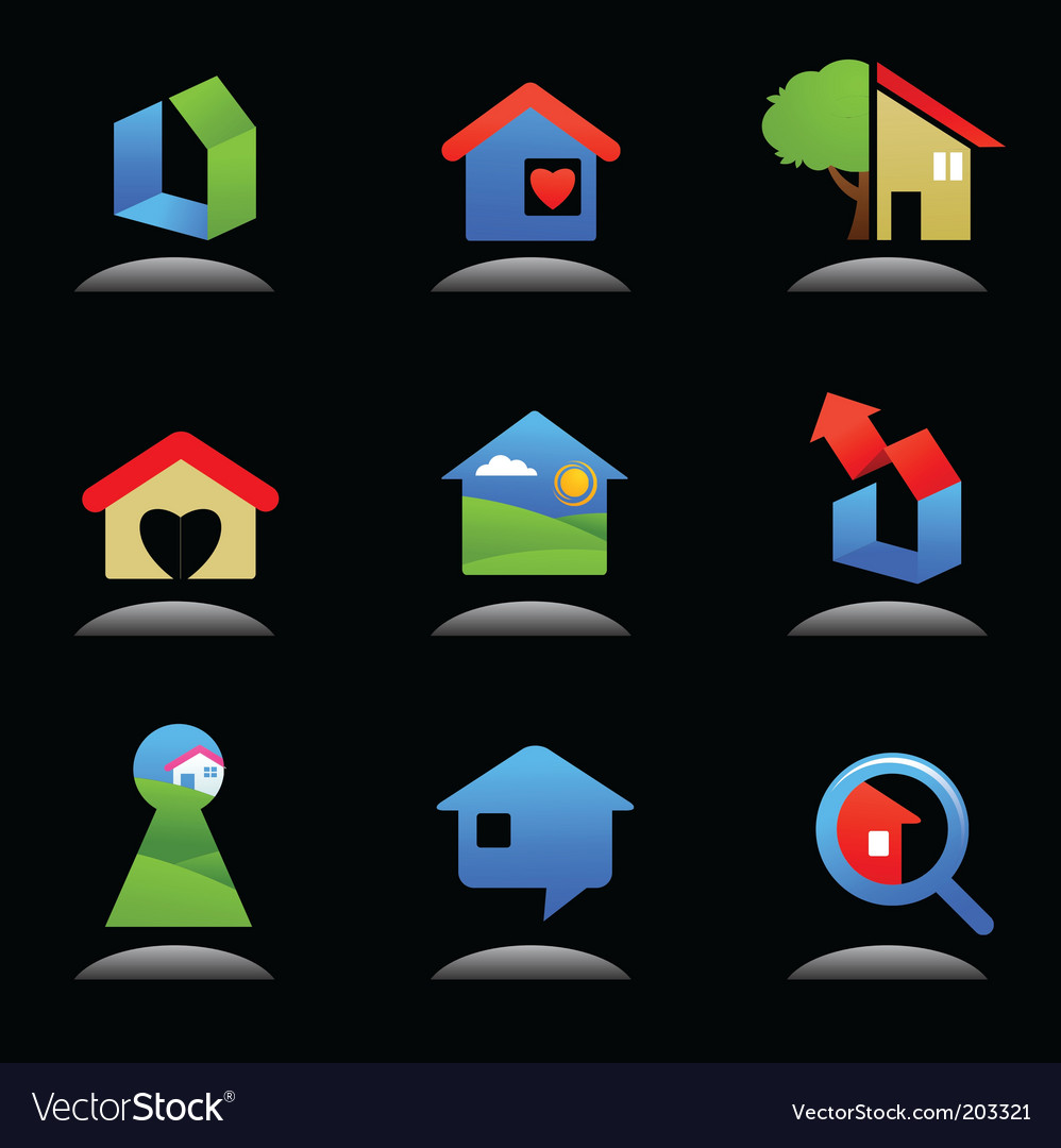 Housing icons vector | Price: 1 Credit (USD $1)