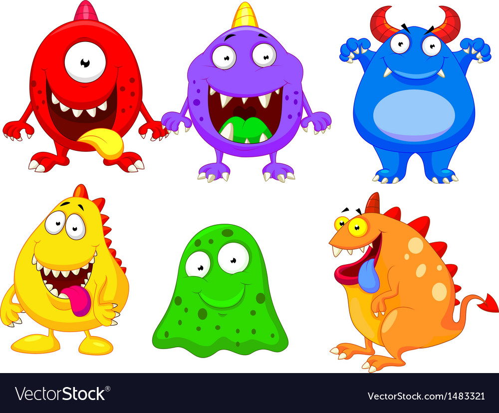 Monster cartoon collection vector | Price: 3 Credit (USD $3)