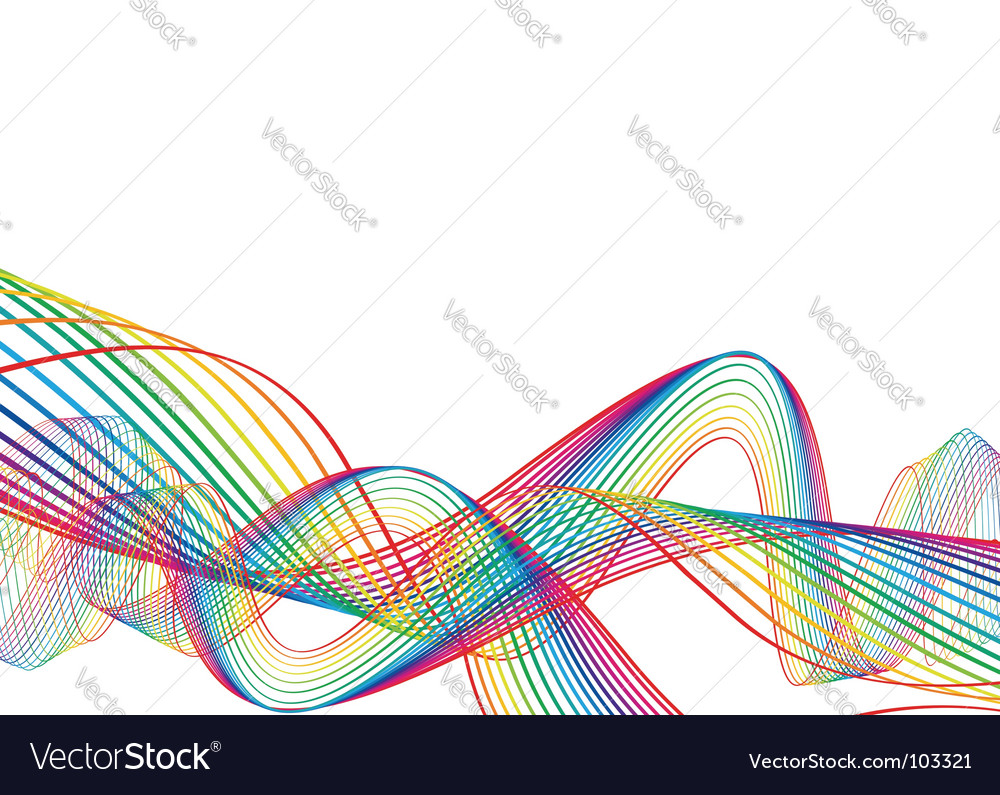 Rainbow wave line background vector | Price: 1 Credit (USD $1)
