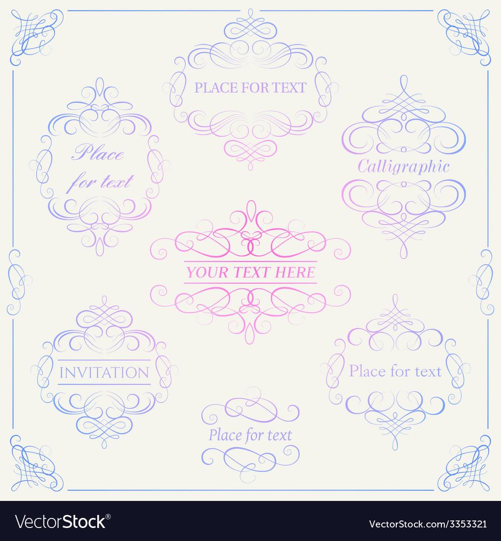 Set - calligraphic design elements vector | Price: 1 Credit (USD $1)
