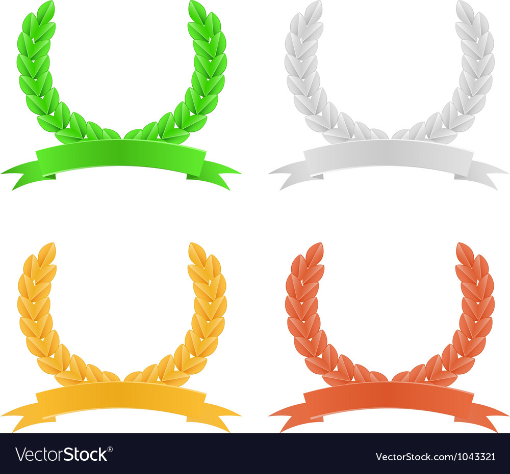 Set of herald wreath vector | Price: 1 Credit (USD $1)