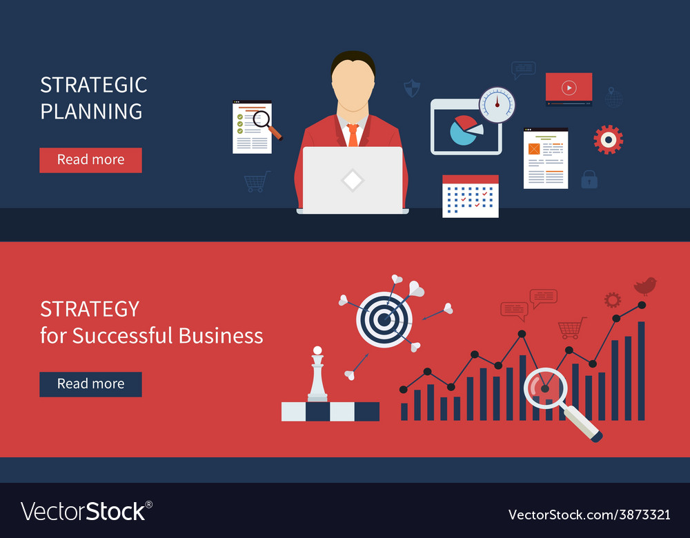 Successful business icons vector | Price: 1 Credit (USD $1)