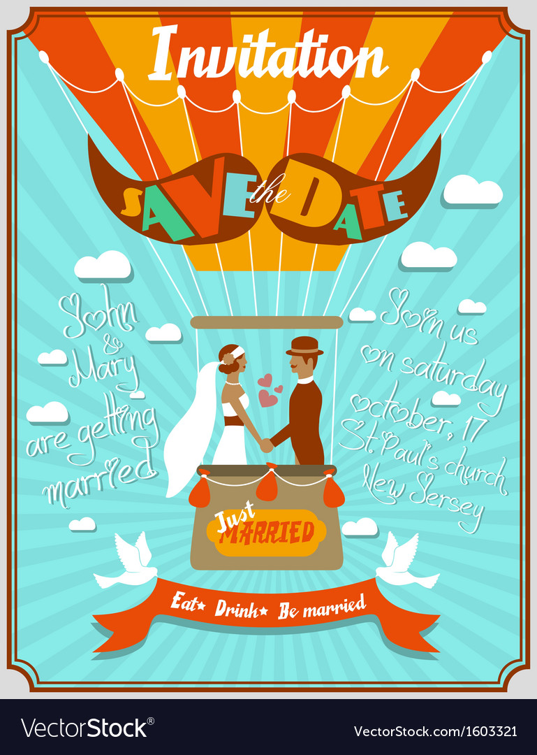 Vintage wedding invitation 5 vector | Price: 1 Credit (USD $1)