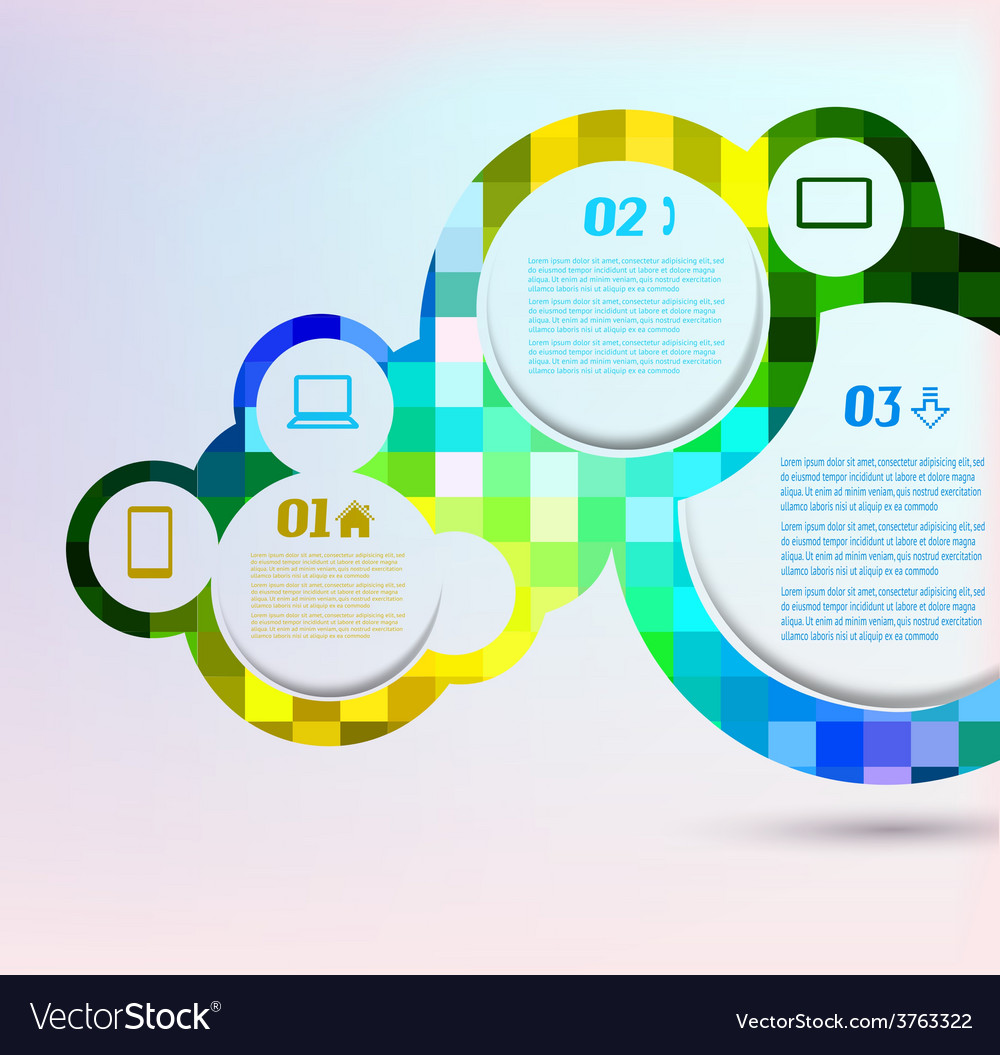 Abstract background with design elements vector | Price: 1 Credit (USD $1)
