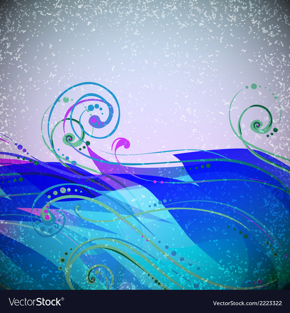 Abstract wave light background with swirls and vector | Price: 1 Credit (USD $1)