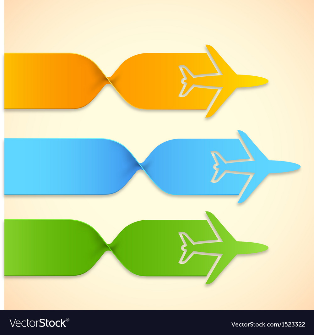 Airplane in travel infograph vector | Price: 1 Credit (USD $1)