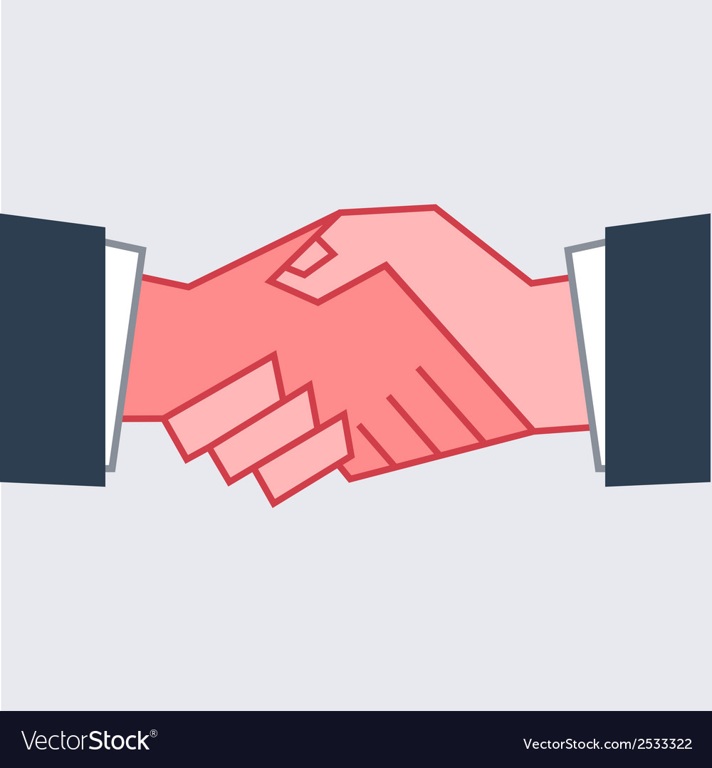 Flat handshake icon business for your design vector | Price: 1 Credit (USD $1)