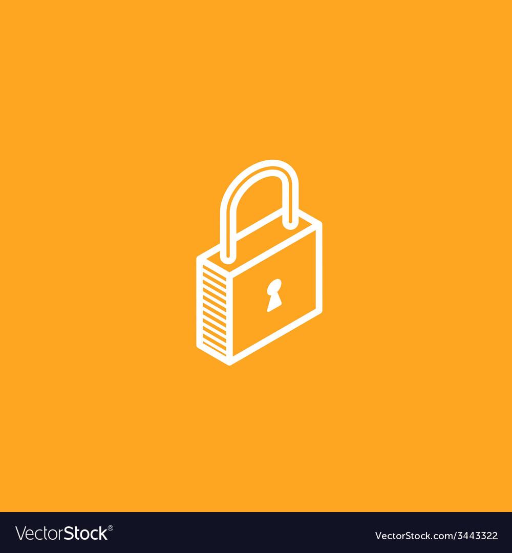 Isometric lock icon vector | Price: 1 Credit (USD $1)