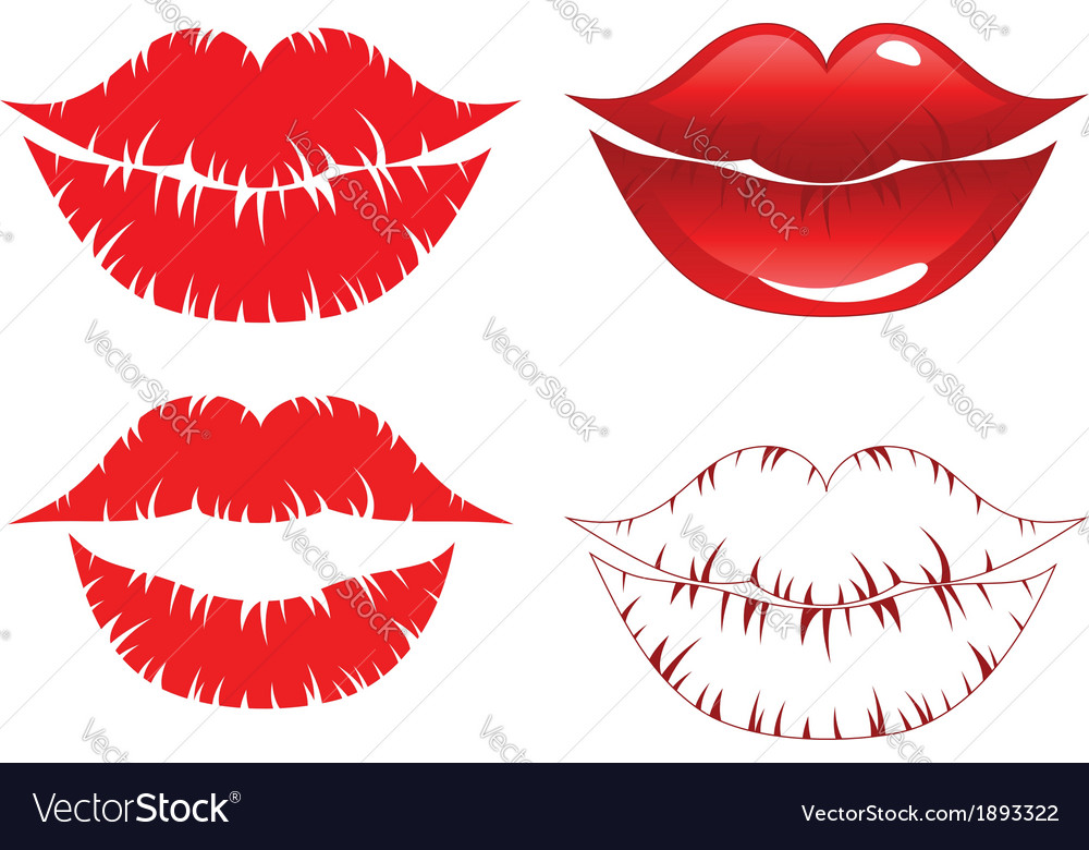 Lips kiss vector | Price: 1 Credit (USD $1)