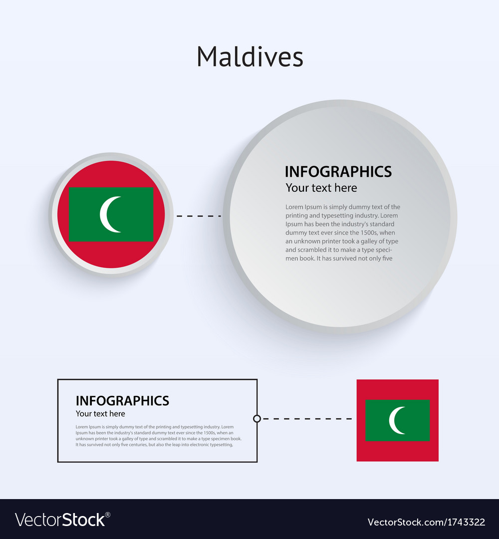 Maldives country set of banners vector | Price: 1 Credit (USD $1)