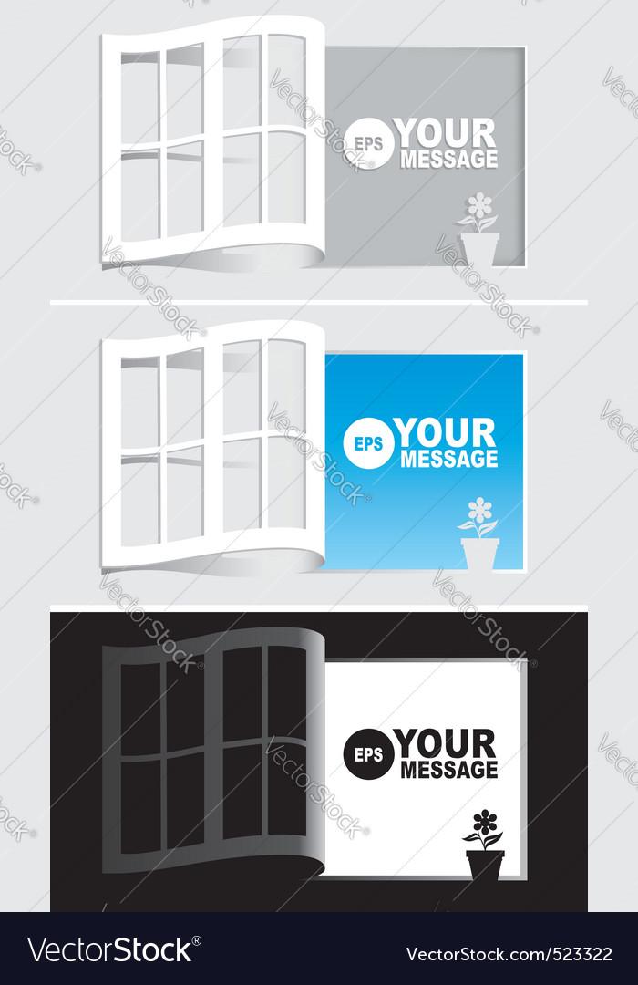 Paper windows vector | Price: 1 Credit (USD $1)