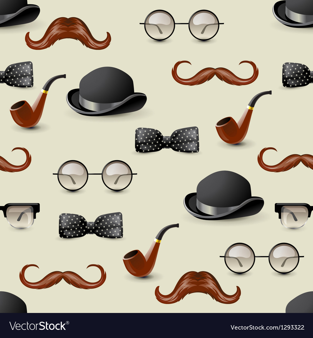 Retro seamless with mustaches vector | Price: 1 Credit (USD $1)