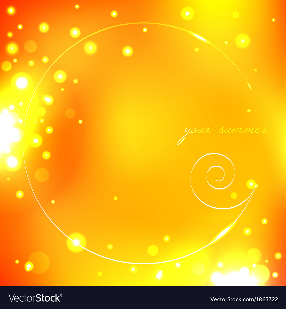 Summer yellow background with shell vector | Price: 1 Credit (USD $1)