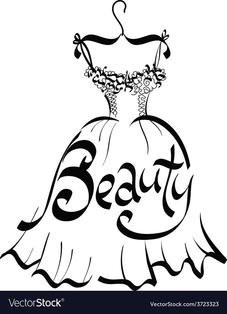 Beauty dress vector | Price: 1 Credit (USD $1)