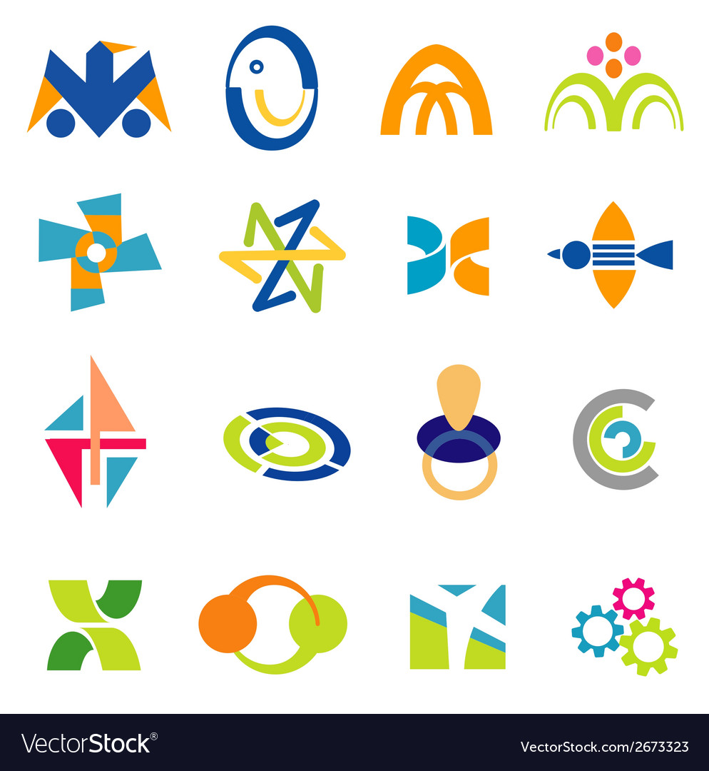 Company icons symbols vector | Price: 1 Credit (USD $1)