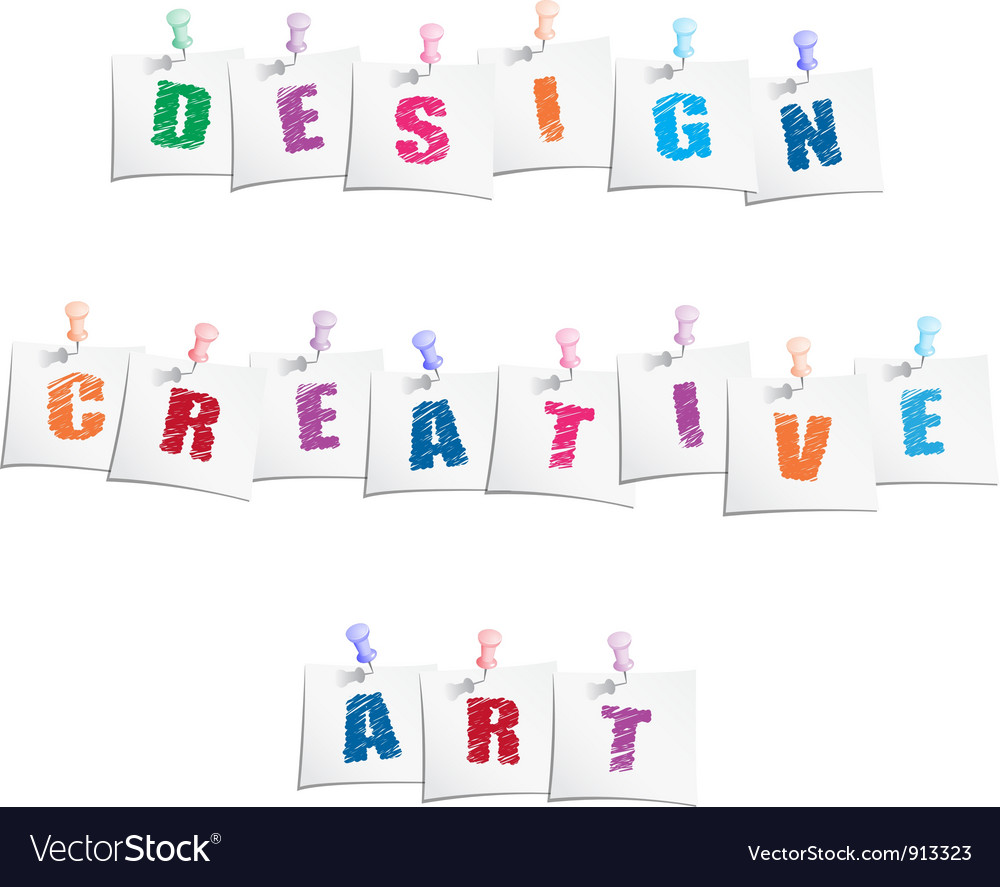 Creative design slogans vector | Price: 1 Credit (USD $1)
