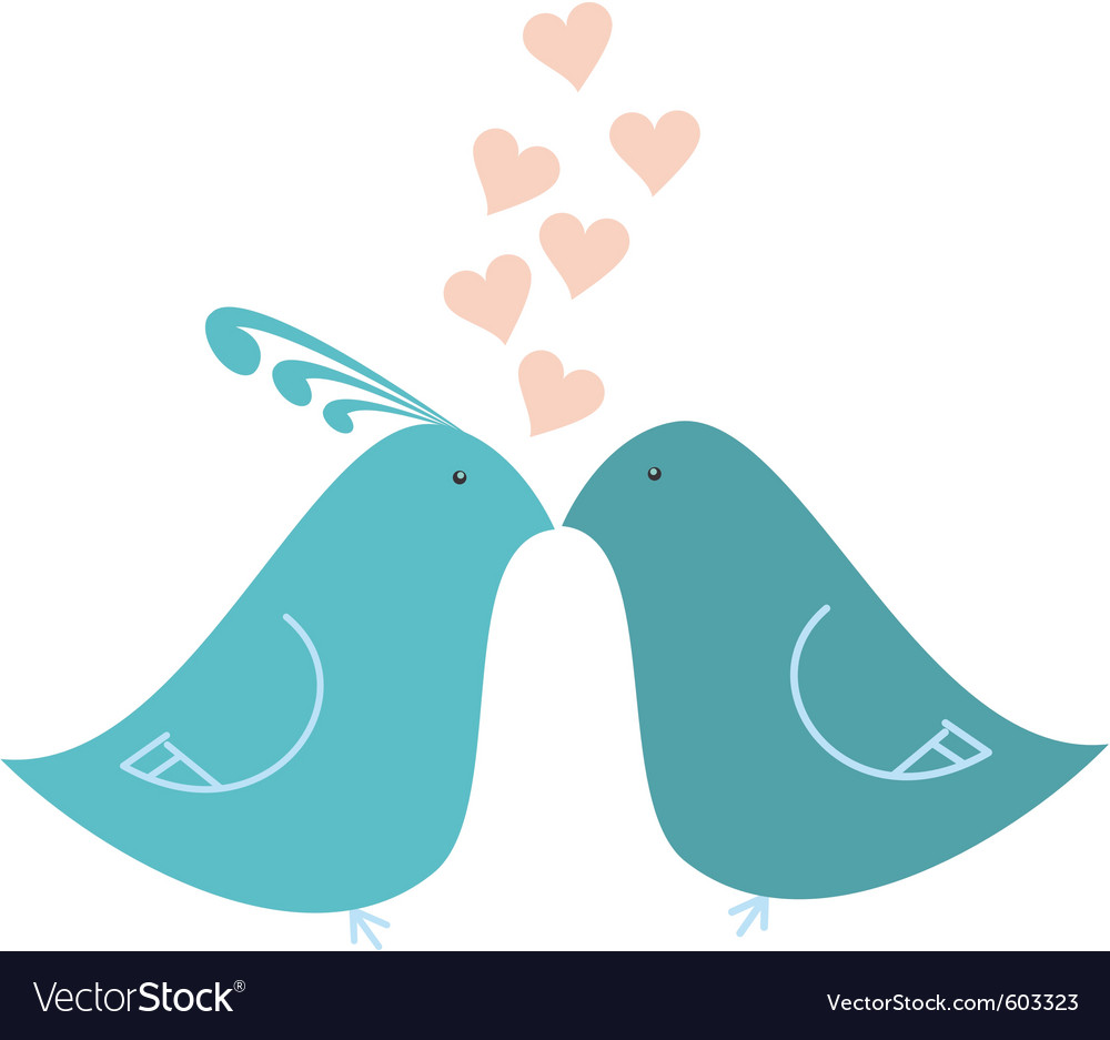 Love birds vector | Price: 1 Credit (USD $1)