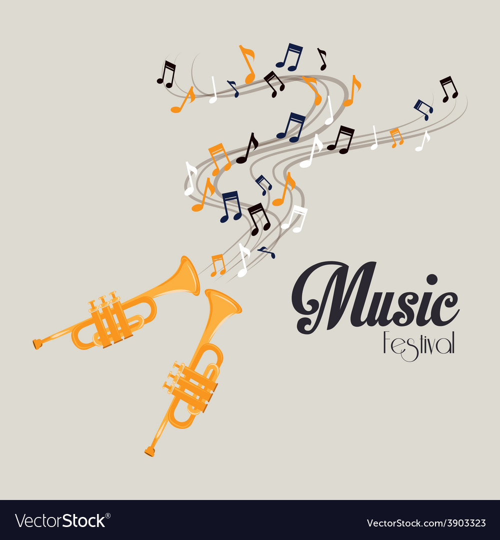 Music design over gray background vector | Price: 1 Credit (USD $1)