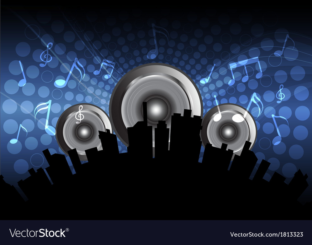 Music festival in the city vector | Price: 1 Credit (USD $1)