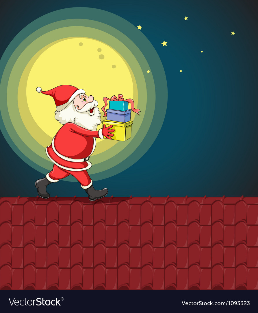 Santa claus and gifts vector | Price: 1 Credit (USD $1)