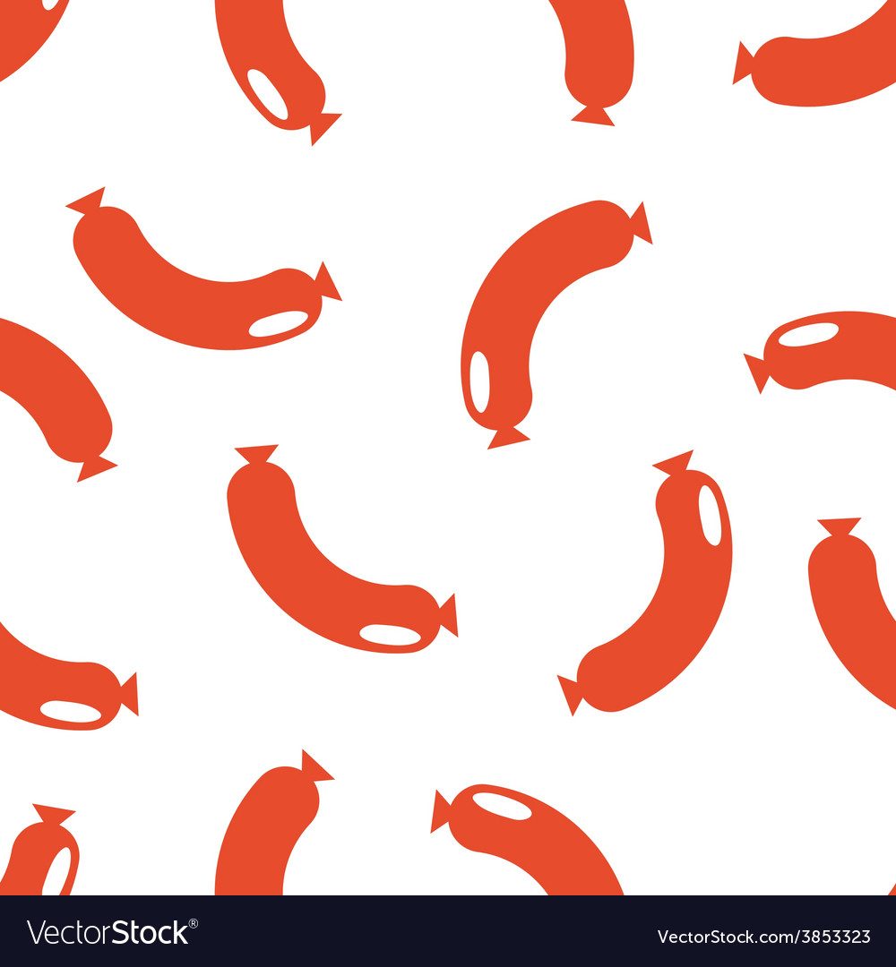 Seamless background of sausages vector | Price: 1 Credit (USD $1)