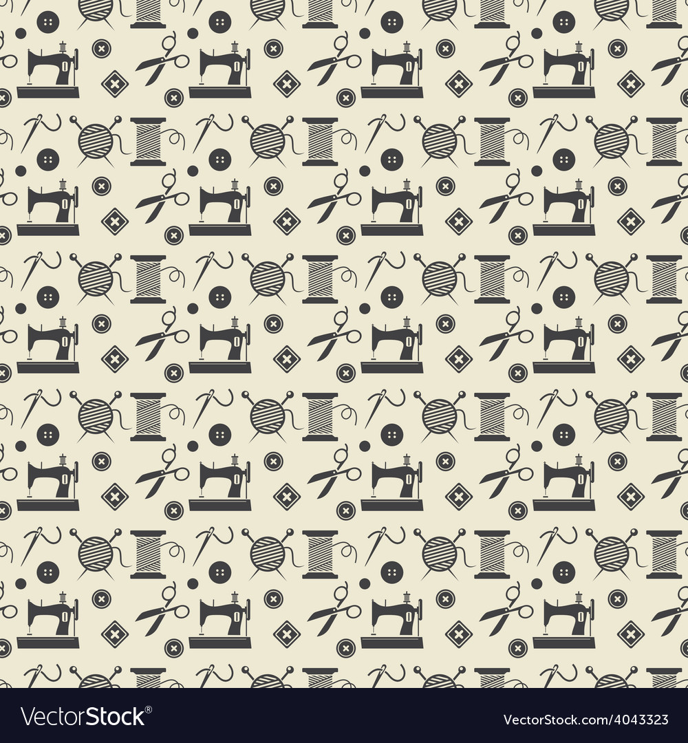 Sewing and needlework background vector | Price: 1 Credit (USD $1)